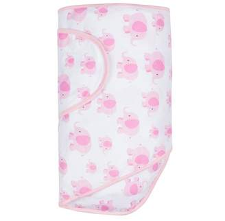 Miracle Blanket Miracle Baby Swaddle Blanket 100% Cotton Pink Elephant
