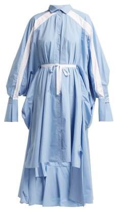 Palmer Harding Palmer//Harding Palmer//harding - Streep Pinstripe Cotton Poplin Shirtdress - Womens - Blue