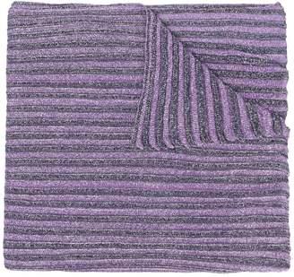 Missoni glitter knitted scarf