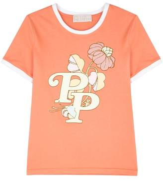 Peter Pilotto Peach Floral-print Cotton T-shirt