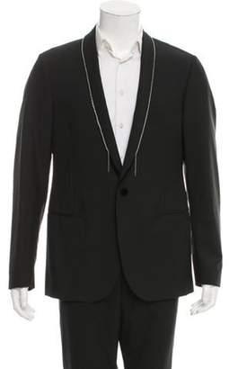 Lanvin Embellished Wool Tuxedo Jacket w/ Tags black Embellished Wool Tuxedo Jacket w/ Tags