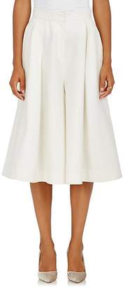 Co Women's Piqué Linen-Cotton Wide-Leg Culottes
