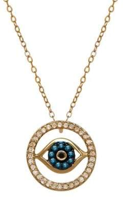 Lord & Taylor 14K Gold Diamond Evil Eye Necklace
