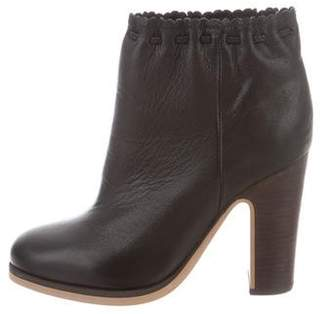 See by Chloe Round-Toe Ankle Boots