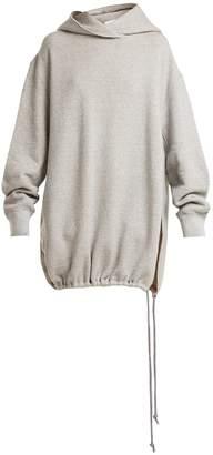 Raey Split-side Japanese-jersey hooded sweatshirt