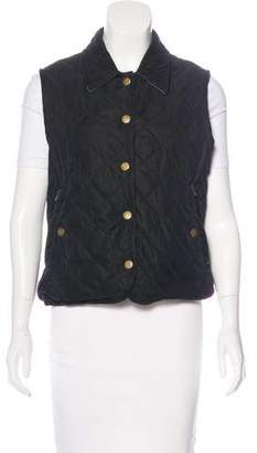 Façonnable Quilted Button-Up Vest