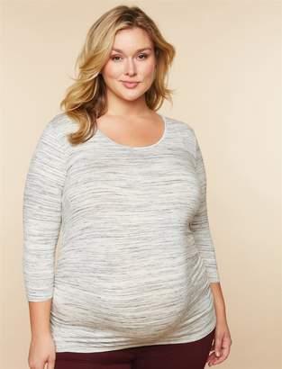 Motherhood Maternity Plus Size Side Ruched Maternity T Shirt
