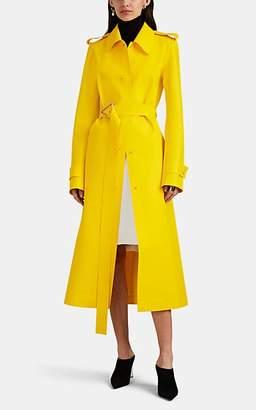 Bottega Veneta Women's Rubberized Tech-Fabric Trench Coat - Yellow