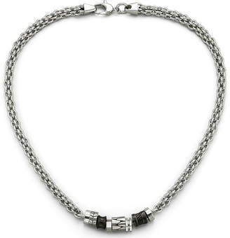 FINE JEWELRY Men's Beaded Necklace Stainless Steel