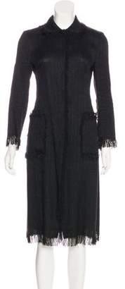 Dolce & Gabbana Fringe Trimmed Long coat
