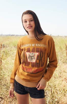 Retro Gold Vintage Wisconsin Sweatshirt