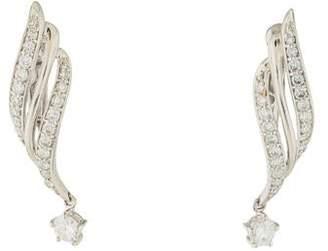 Platinum Diamond Twist Drop Earrings