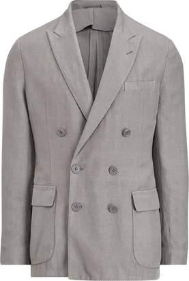 Ralph Lauren Slub Linen-Silk Suit Jacket