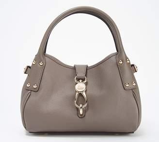 Dooney & Bourke Belvedere Leather Small Logo Lock Satchel