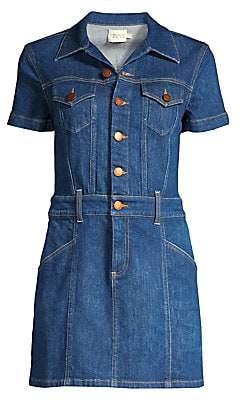 Alice + Olivia Jeans Jeans Women's Amazing Mini Denim Shirtdress - Size 0