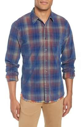 Frame Plaid Slim Fit Corduroy Sport Shirt