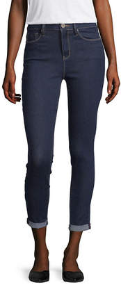 YMI Jeanswear Womens High Waisted Skinny Cropped Jean - Juniors