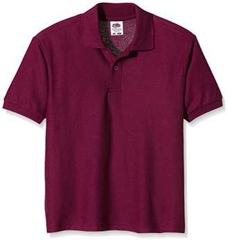 Fruit of the Loom Unisex Kids 65/35 Short Sleeve Polo Shirt,3-4 Years (Manufacturer Size:22)
