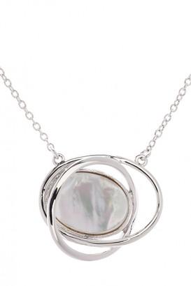 Karen Millen Jewellery Ladies Stainless Steel Rhythmic Oval Stone Pendant KMJ885-01-46