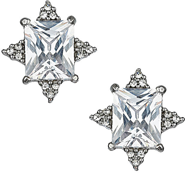 Topshop Premium Cubic Zirconia Stud Earrings