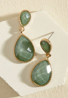Ana Accessories Inc Turn a Droplet Earrings in Sage $12.99 thestylecure.com