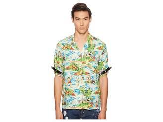 DSQUARED2 Printed Hawaiian Viscose Shirt Men's Clothing