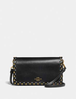 Coach Hayden Foldover Crossbody Clutch With Scallop Rivets