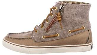 Sperry Woven High-Top Sneakers
