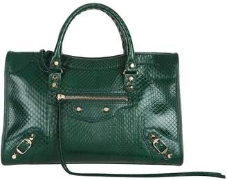 Balenciaga Small Python City Bag