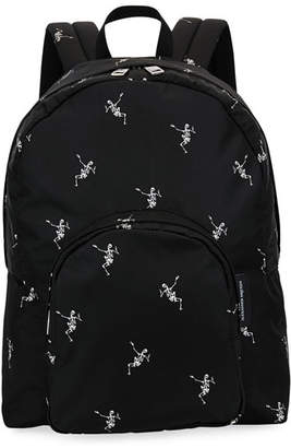 Alexander McQueen Men's Small Skeleton-Print Backpack