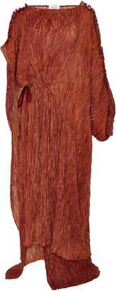 Rosie Assoulin Asymmetrical Pleated Crepe Caftan