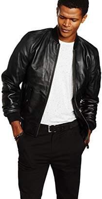 Schott NYC Men's LC2305B Leather Long Sleeve Jacket