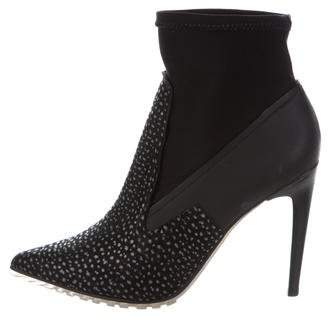 Tibi Pointed-Toe Ankle Boots