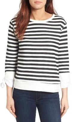 Women's Gibson Tie Sleeve Sweatshirt $35.40 thestylecure.com