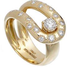 anima ISTANBOULLI GIOIELLI 18k Diamond Loop Ring, Size 7