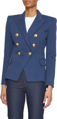 Balmain Molleton Denim 6-Button Blazer