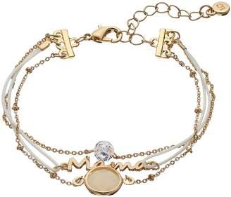 Lauren Conrad Cubic Zirconia Multistrand Mama Bracelet