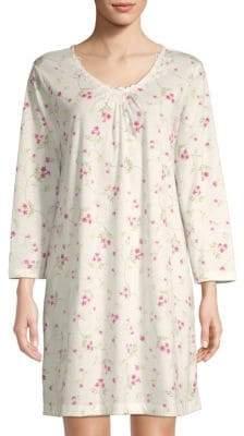 Carole Hochman Floral-Print Long-Sleeve Sleepshirt