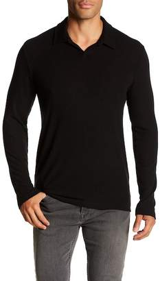 Velvet by Graham & Spencer Collared Long Sleeve Knit Shirt