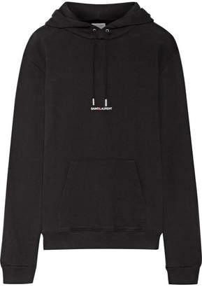 Oversized Printed Cotton-terry Sweatshirt - Black