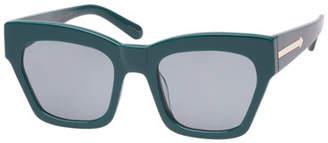 Karen Walker Treasure Monochromatic Rectangle Sunglasses