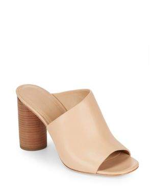 Helena Leather Mules $245 thestylecure.com