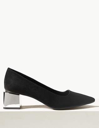 Marks and Spencer Wide Fit Statement Heel Court Shoes