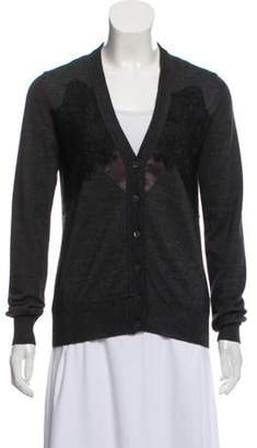 Dolce & Gabbana Lace-Accented Button-Up Cardigan black Lace-Accented Button-Up Cardigan