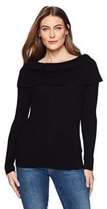 Lark & Ro Women's 100% Cashmere Soft Slim Fit Off the Shoulder Sweater