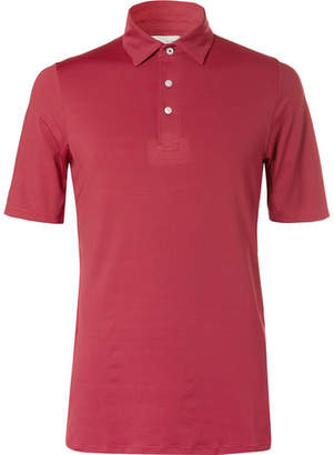 Kjus Golf Soren Striped Stretch-Jersey Golf Polo Shirt