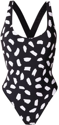 Off-White printed swimsuit