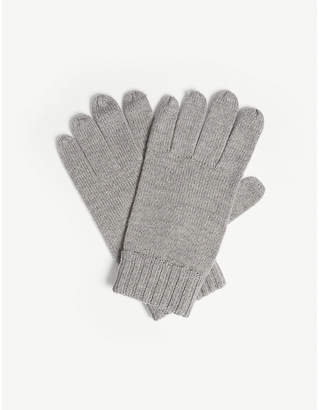 Polo Ralph Lauren Logo merino wool gloves