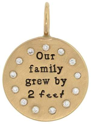 Heather B Moore Our Family Grew Charm - Yellow Gold