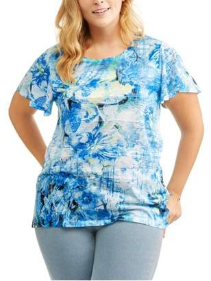 Generic Women's Plus Sublimation Printed Tee